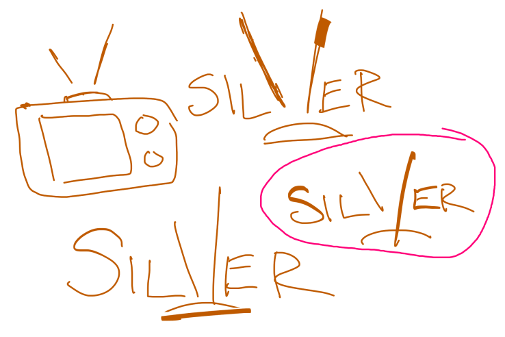 Rough early sketches of Silver logo